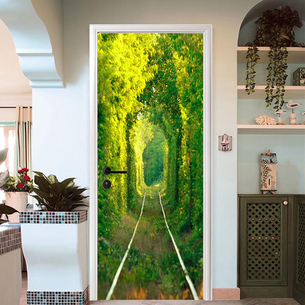 3D Bäume 750 Tür Wandmalerei Wandaufkleber Aufkleber AJ WALLPAPER DE Kyra | Erste in seiner Klasse  | Ein Gleichgewicht zwischen Zähigkeit und Härte  | Verbraucher zuerst