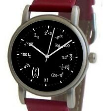 """Mathematics Dial"" Theme Watch Has A Math Equation At Each Hour Indicator"