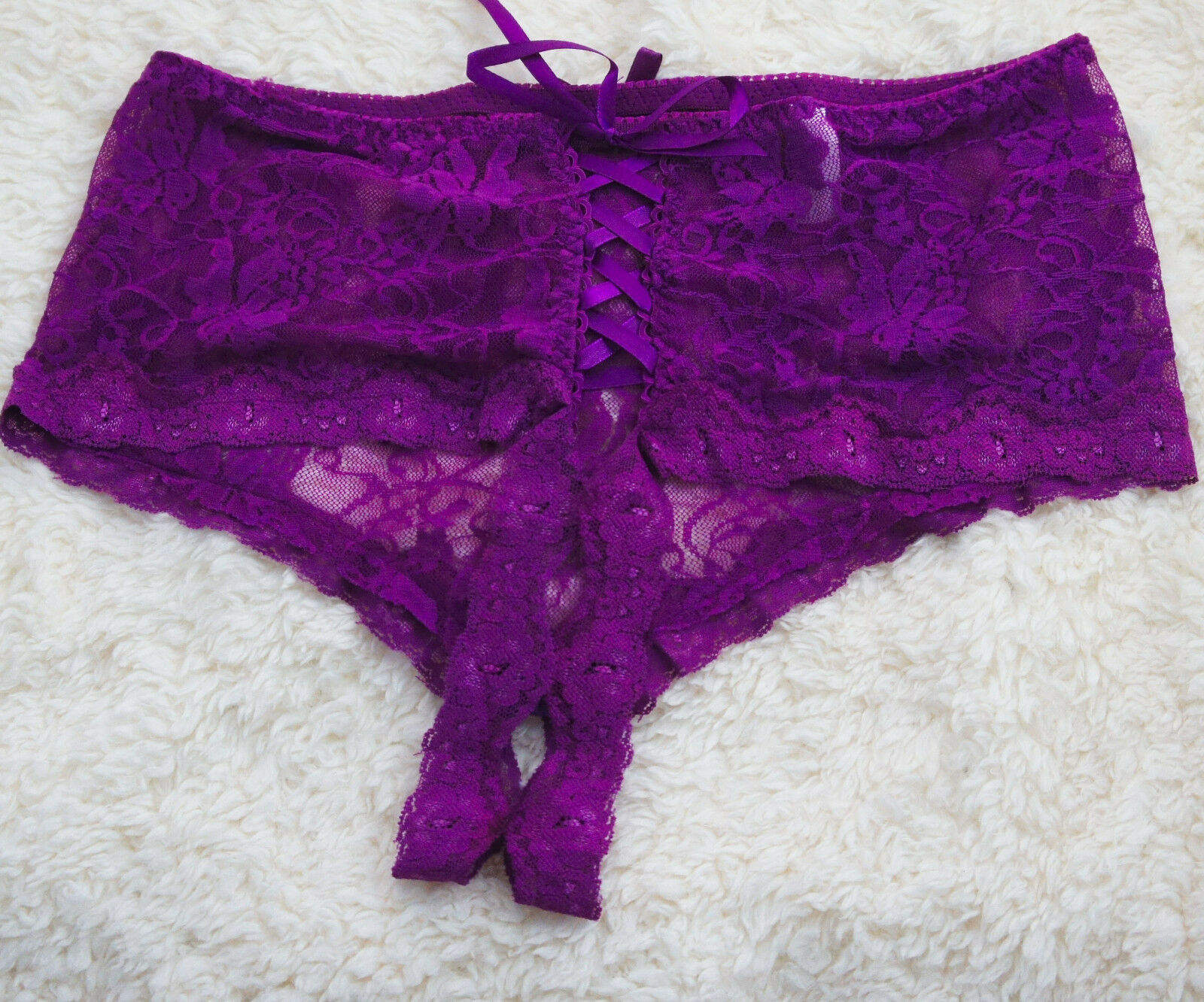 Lily Of France thong 6//M 2143631 pink womens panty NEW
