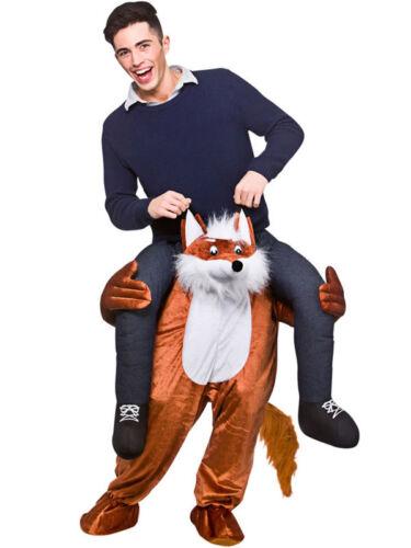 New Carry Me Fantastic Mr Fox Hunt Ride On Piggy Back Mascot Fancy Dress Costume