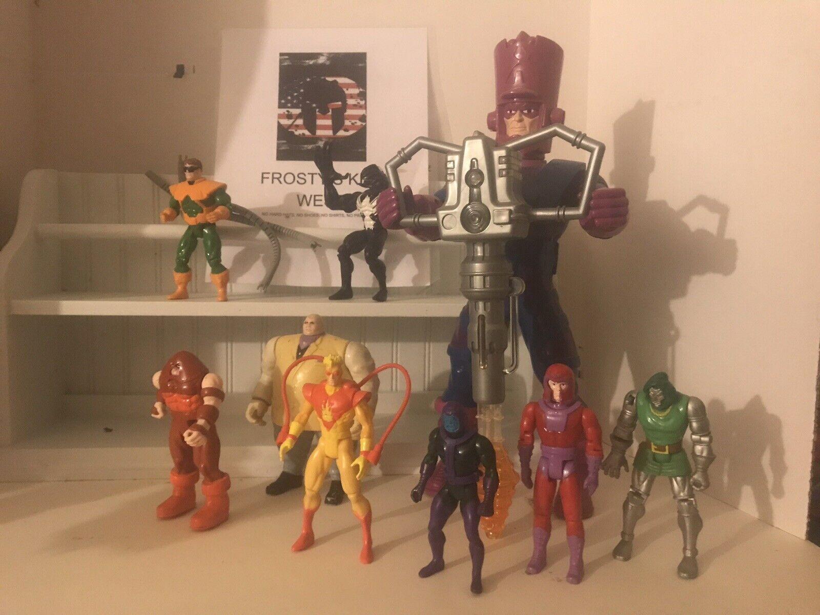 Marvel toybiz action figure lot, of Villains. (9)Galactus Venom Magneto Kingpin