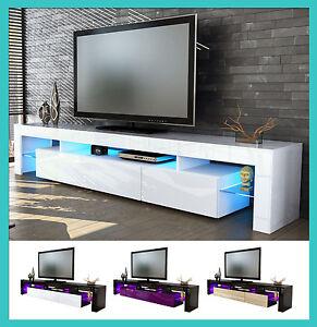 Mobile tavolo porta tv moderno laccato lucido salotto for Mobile sala bianco