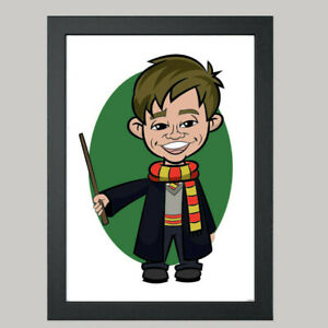1 Person Digital Caricature From Photo - Harry Potter - Wizard - Digital File
