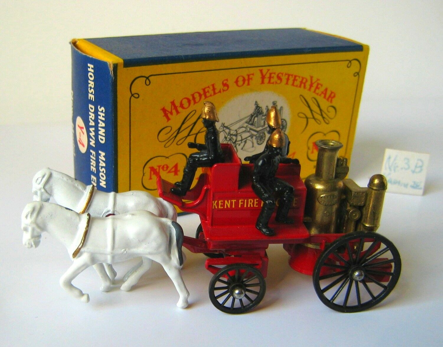 Matchbox/Lesney, Horse Drawn Fire Engine - KENT 1905-, Ausgabe Nr.3b, unbespielt