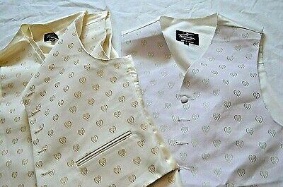 "Adattabile Piscador -england Classic Mauve/beige Floral Patterned Waistcoat/vest L (42"") Fabbriche E Miniere"