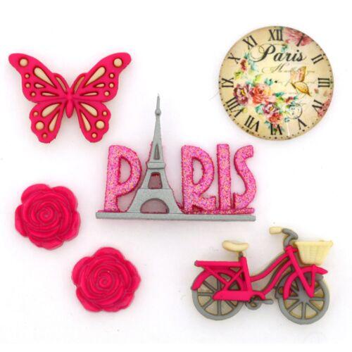 Sew Craft Scrap Jesse James Buttons ~ Dress It Up  PARIS 10422
