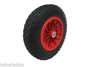 14 plastic pu puncture proof wheelbarrow wheel with 12mm roller bearings ebay. Black Bedroom Furniture Sets. Home Design Ideas