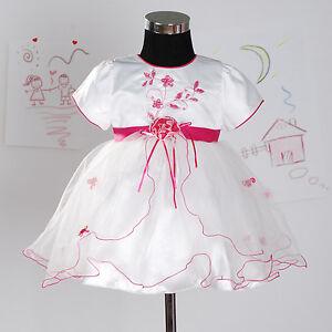 Vestidos de nina para fiesta blanco con rojo