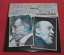 GEORGE LEWIS REUNION DON EWELL JIM ROBINSON LP CANADA DELMARK DS 220