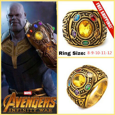 Avengers Thanos Infinity War Gauntlet Power Ring Jewelry Cosplay For Party