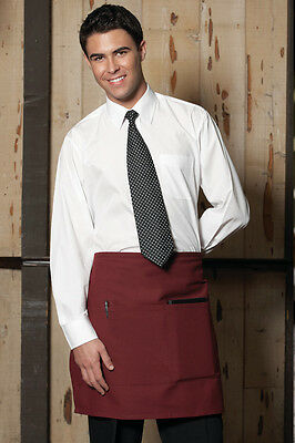 Vtex Half bistro waist apron 3056-0300 Burgundy 2 Section pockets