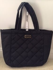 7ed7608485ca NEW! MARC JACOBS Quilted Nylon CROSBY Tote Shoulder Bag-Black-NWT ...