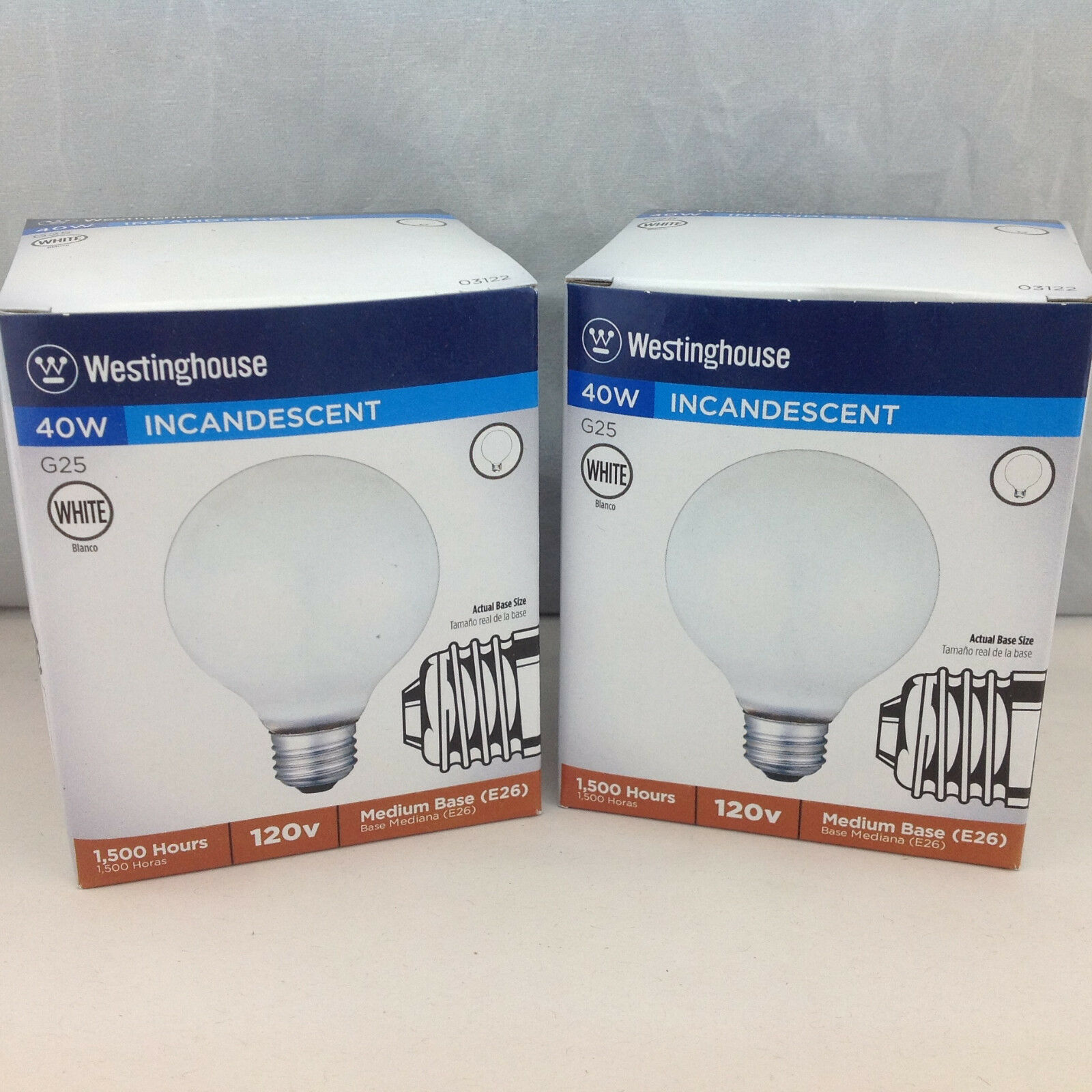04065 E26 MEDIUM NOS WESTINGHOUSE 7.5W // 120V INCANDESCENT BULB BASE