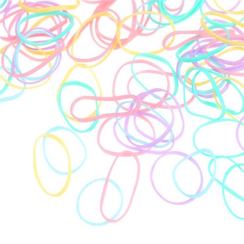 1000pcs//Bag Small Elastic Hair Bands Braids Poly Rubber Plaits Braiding Mini FsG