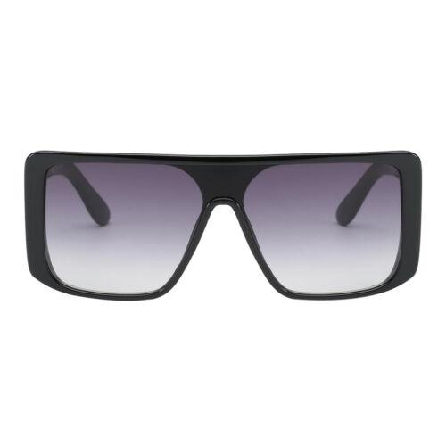 Super Oversized Sunglass Unisex Flat Top Square Large Frame Fashion Eyewear