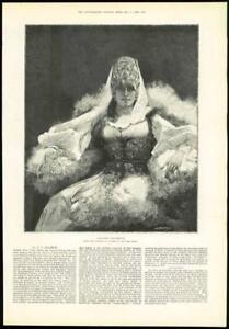 1889-Antique-Print-FINE-ART-Fantaisie-Caucasienne-Clairin-Paris-Salon-292