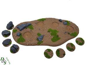 Details about Modular Rural/Forest Terrain Base Large [x1] (Wargames  Scenery) Warhammer 40K