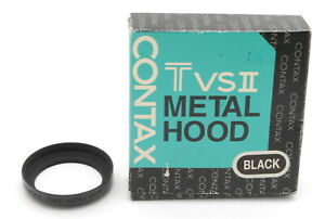 [TOP MINT IN BOX] Contax TVS II Lens Hood BLACK for T3 TVS II 30.5mm From JAPAN