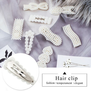 Luxury-Women-Pearl-Hair-Clip-Snap-Barrette-Stick-Hairpin-Bobby-Hair-Clips-Gift
