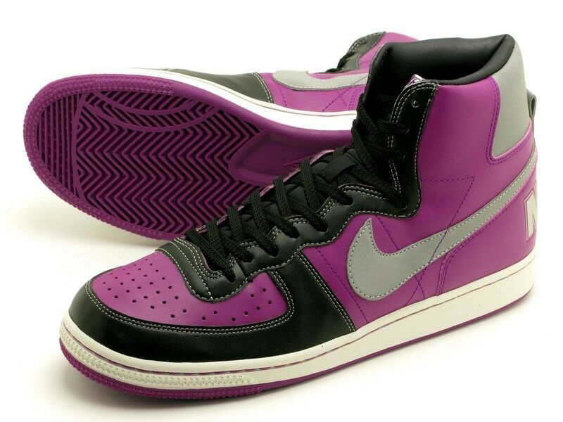 Nike Terminator High Basic Bottes Boot Old School Neuf gr:42 Violet Force Vanda-