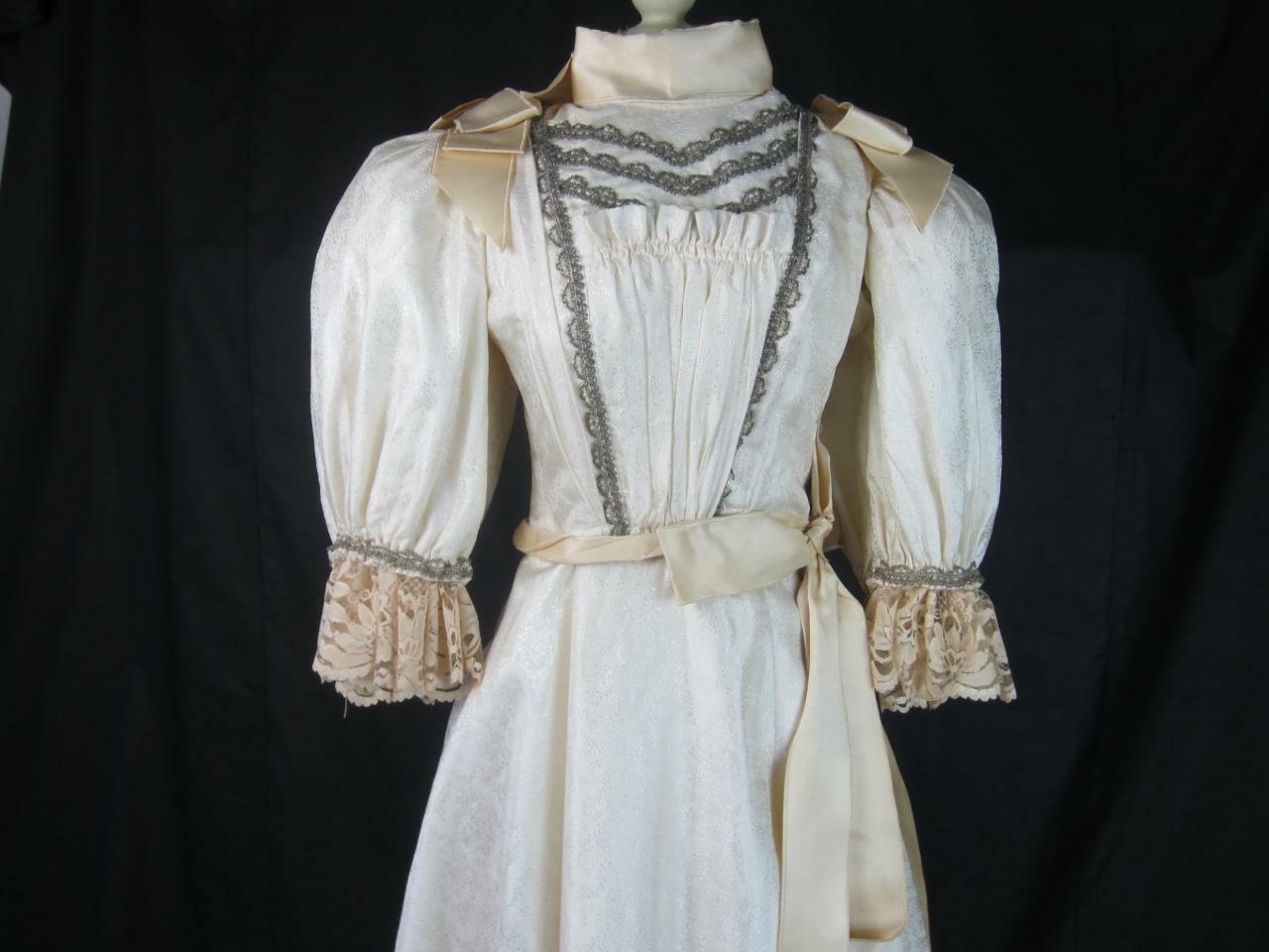 1895 Wedding Gown Victorian True Antique Dress - … - image 2