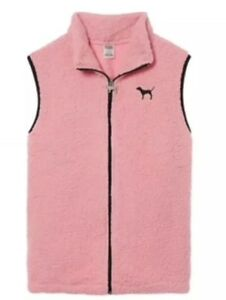 Victoria/'s Secret PINK SHERPA VEST FULL ZIP SUPER SOFT JACKET S-L NWT