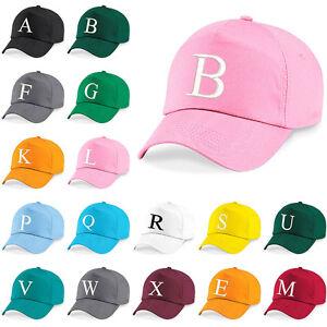 Kids-Ricamo-Berretto-Da-Baseball-Bambini-Bambine-Bambini-Junior-Cappello-Estate-una-Z-Rosa