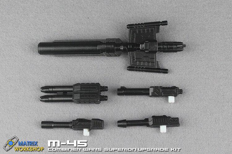 Matrix Workshop M-45 3D DIY Upgrade Kit For Combiner Wars Superion 5 guns make 1