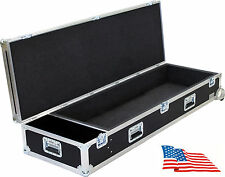 ATA Kent Custom Road Flight Case ALESIS Micron Keyboard Synth + Compartment