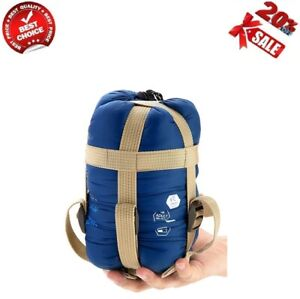 Portable-Compact-Lightweight-Warm-Weather-Sleeping-Bag-with-Compression-Sack