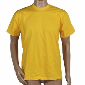Fruit-of-the-Loom-T-Shirt-Gelb-Classic-Valueweight-Gelb