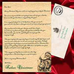 Personalised letter from father christmas santa claus with envelope image is loading personalised letter from father christmas santa claus with spiritdancerdesigns Gallery
