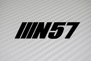 Details about BMW N57 Sticker x2 Diesel 330d, 525d, 530d,325d e90 e91 e92  e93