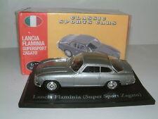 1/43 LANCIA FLAMINIA SUPERSPORT ZAGATO in argento. EDIZIONI ATLAS
