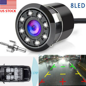 170-CMOS-Car-Rear-View-Backup-Camera-Reverse-8-LED-Night-Vision-Waterproof-US
