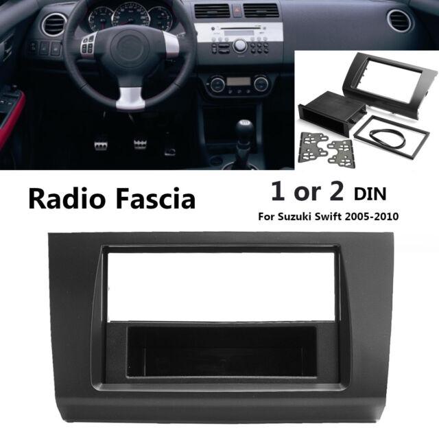For Suzuki Swift 1 or 2 Din Radio Fascia Stereo Surround Dash Panel Plate AU