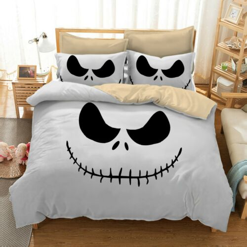 The Nightmare Before Christmas Jack Skeleton Duvet Cover Pillowcase Bedding Set