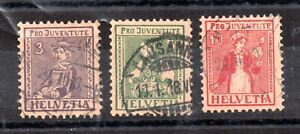 Switzerland-1917-Pro-Juventute-fine-used-set-J6-8-Cat-Val-90-WS15667