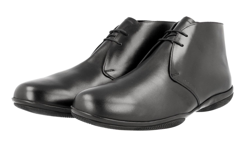 shoes A LACETS PRADA LUXUEUX 4T2107 black NOUVEAUX 6,5 40,5 41