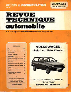 Rta Revue Technique Automobile Volkswagen Polo C Cl Formel E Gl Derby Artisanat Exquis;