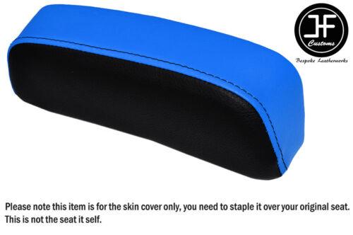 BLACK LIGHT BLUE VINYL CUSTOM FITS SUZUKI GSXR 750F SLABSIDE PAD SEAT COVER ONLY