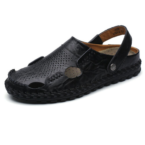 Men/'s Leather  Sports Sandals Waterproof Shoes Fisherman Beach Summer SD111