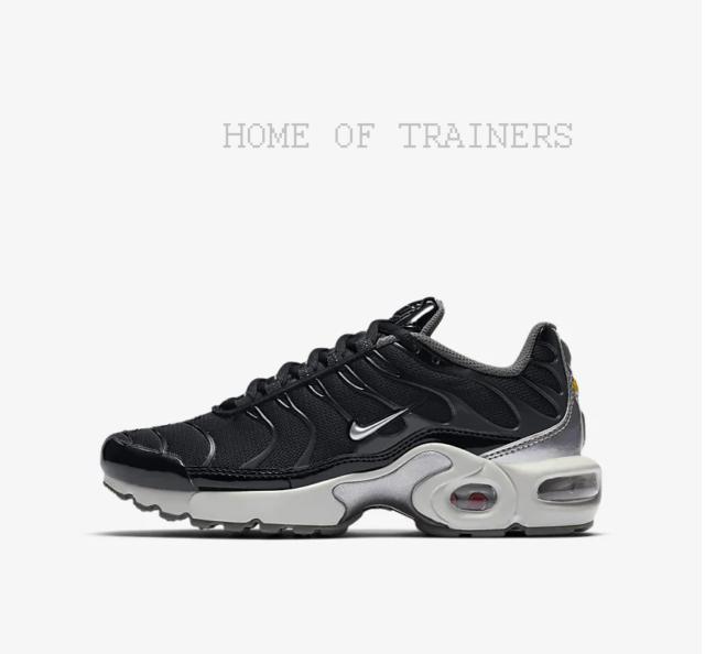 low priced e79e5 2d237 Nike Air Max Plus Y2K Black Dark Grey Pure Platinum Kids Boys Girl Trainers