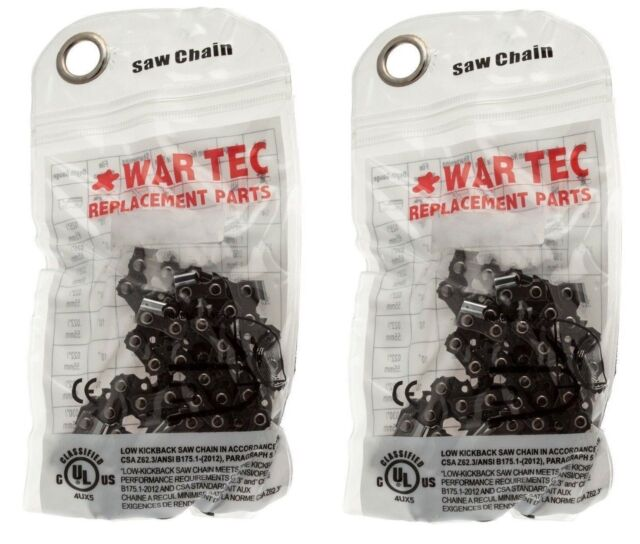 "WAR TEC 14"" Chainsaw Saw Chain Pack Of 2 Chains Fits MAKITA UC3541A DUC353"