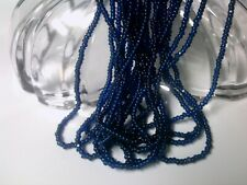 Vtg 1 HANK BLUE LUSTER ROCAILLE SEED BEADS 10//0 glossy pearly #052112o