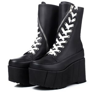 womens-leather-lace-up-platform-round-toe-mid-calf-boots-gothic-punk-shoes-size