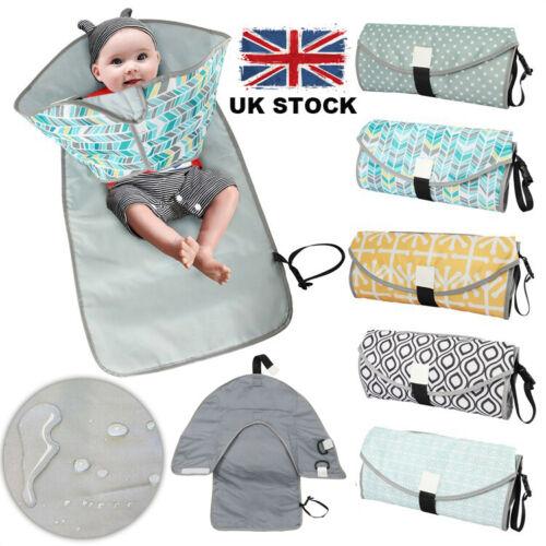 3in1 Baby Infant Changing Pad Mat Waterproof Clean Hands Clutch Change Diaper UK