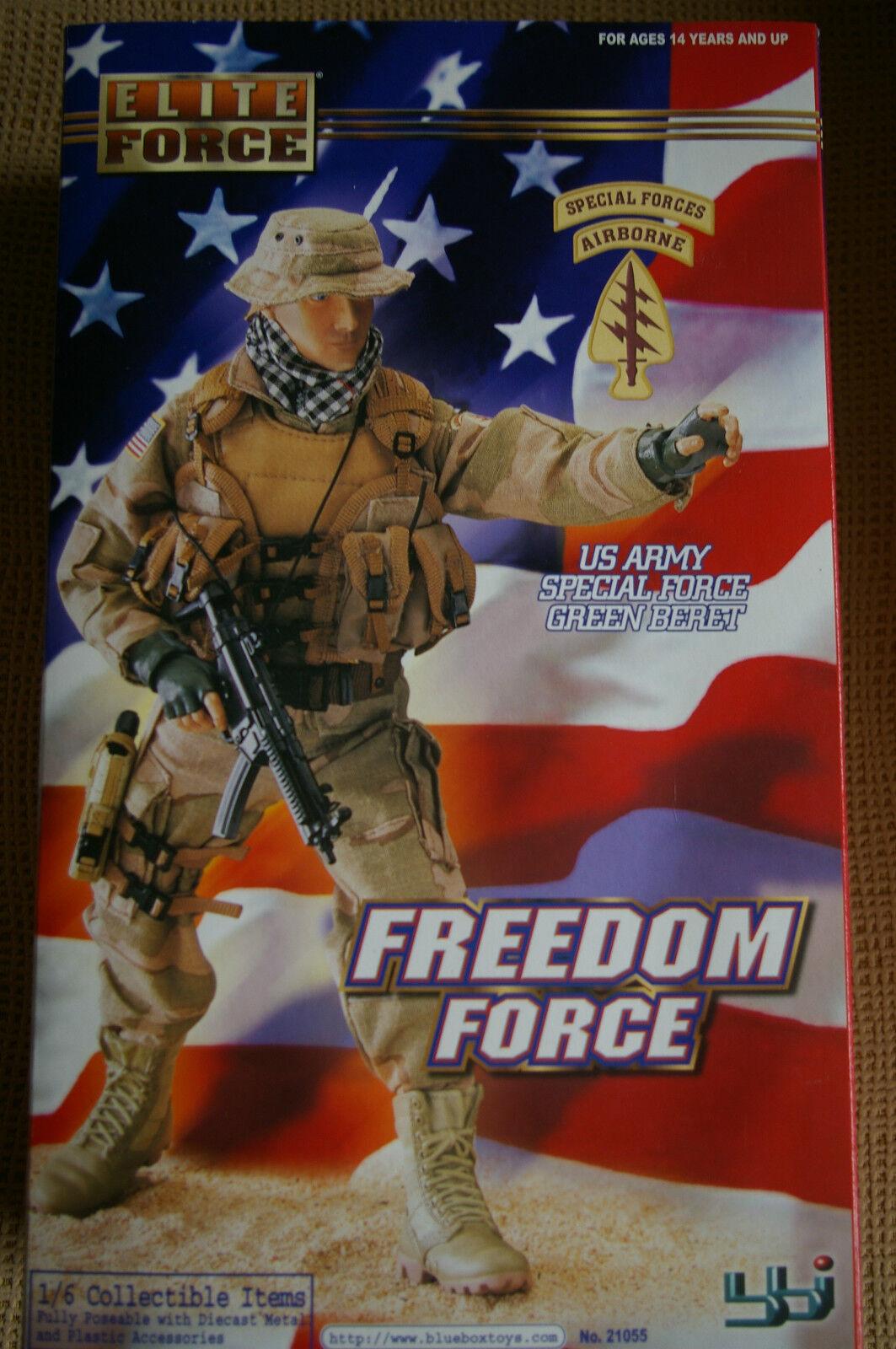 FIGURA  US ARMY SPECIAL FORCE Grün BERET 1 6 Blauboxtoys