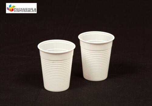 3000 x White Disposable 7oz PLASTIC CUPS GLASSES