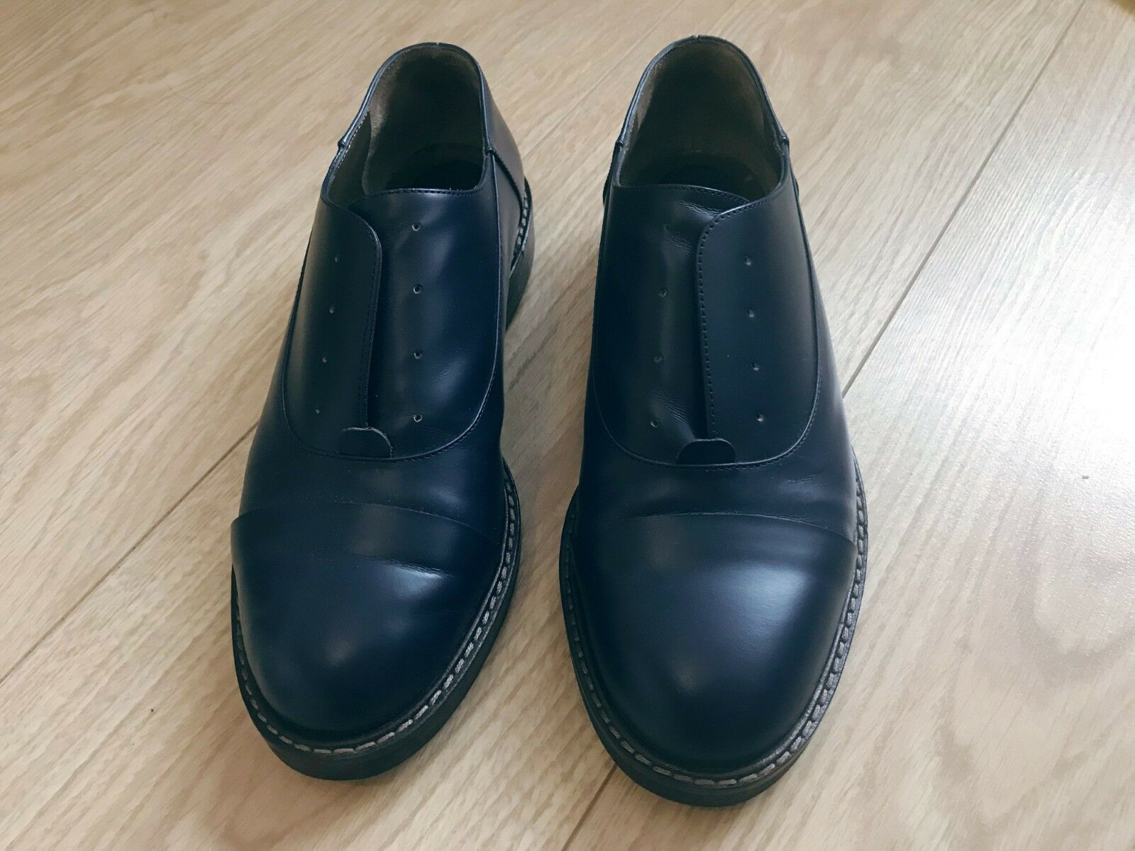 Marni shoes navy bluee womens leather